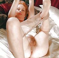 Pantyhose Redhead Granny