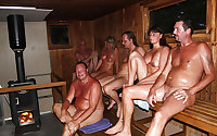 Mature Naked Sauna