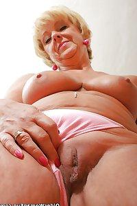 66 year old and British grandma Samantha from OlderWomanFun