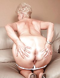 Grannies bending over and showing ass