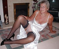 grannys in satin lingerie 2