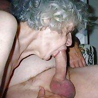 Granny gives blowjob