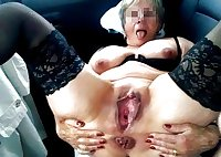 Love this huge pussy mature old girl.