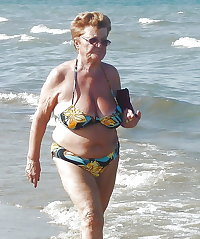 BBW matures and grannies at the beach 167
