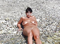 BBW matures and grannies at the beach 166
