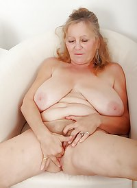 granny showing and spreading pussy