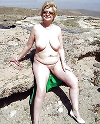 BBW matures and grannies at the beach 265