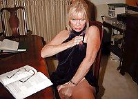Older ladies show off their legs