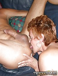 Granny LOVES eating cock and ASS