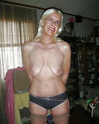 topless blonde granny