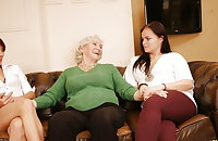 Old Grandma Norma Fucked By Two Young Lesbians PART 3
