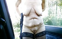 Sagging breasts granny women excite me 13
