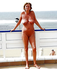 BBW matures and grannies at the beach 144