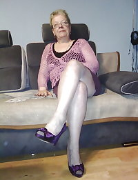 Ugly Granny in Pantyhose
