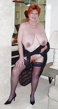 Granny saggy tits and stockings