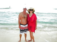 BBW matures and grannies at the beach 302
