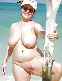 BBW matures and grannies at the beach (52)