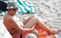 BBW matures and grannies at the beach 203