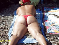 BBW matures and grannies at the beach 209