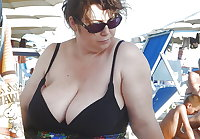 BBW matures and grannies at the beach (55)