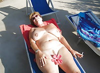 BBW matures and grannies at the beach 275