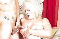 Old dirty grandma takes young boy's cock 3