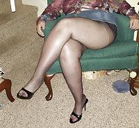 Chloe English Granny GILF nylon legs