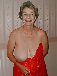 Granny showing one boob