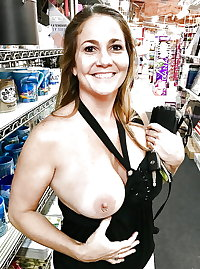 FLASHING  in store     sexy pussy and tits  old and young