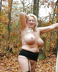 A selection of Grannies displaying all in the woods