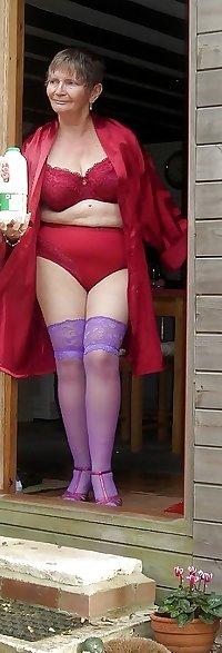 granny in her suspenders
