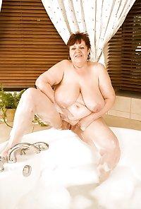 Grandma Jindry show her big breast.