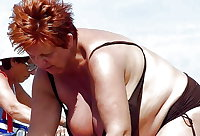 BBW matures and grannies at the beach 289